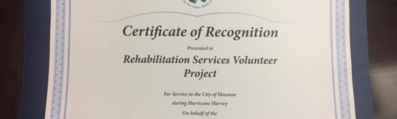 Certificate of Recognition from the Citizenship Month Committee